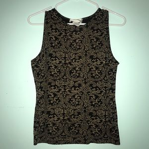 Tops - brocade pattern top